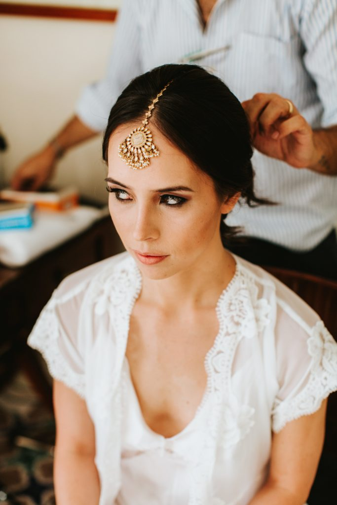 Bride getting ready - Hindu wedding at Hotel Caruso in Ravello - Italian Wedding Designer