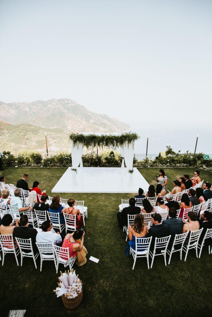 Ceremony Setting - Hotel Caruso Wedding - Italian Wedding Designer