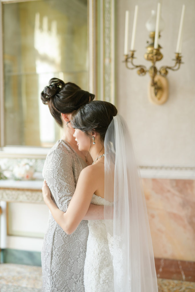 Bride and her mother Stunning wedding at Villa Pizzo - Italian Wedding Designer
