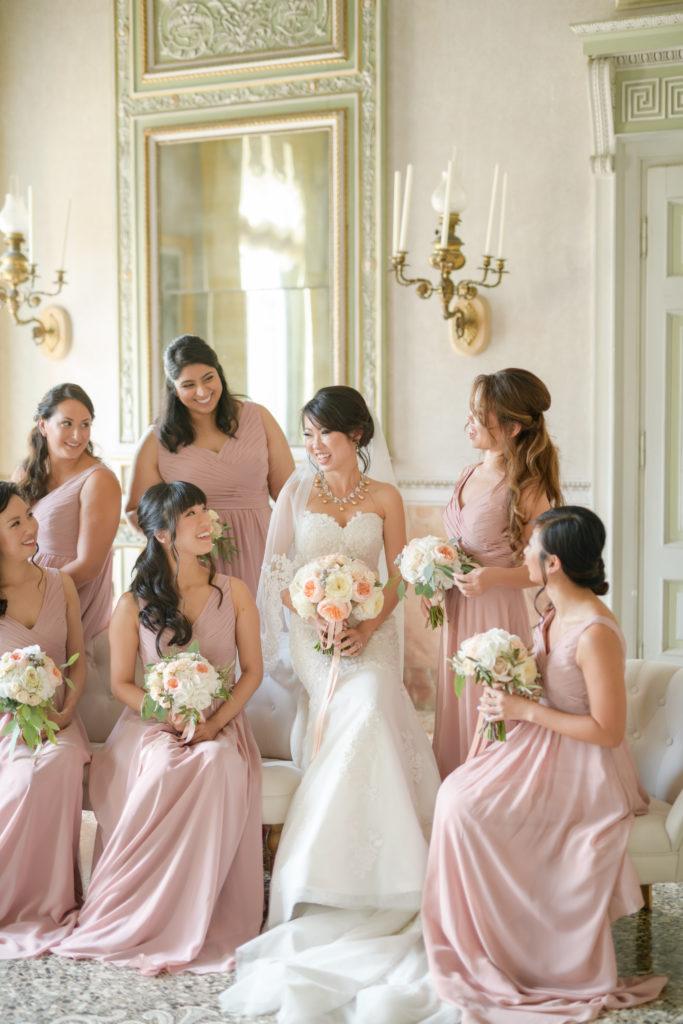 Bridal Party indoor villa pizzo Stunning wedding at Villa Pizzo - Italian Wedding Designer