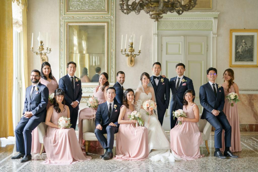 Bridesmaids and Groomsmen Stunning wedding at Villa Pizzo - Italian Wedding Designer