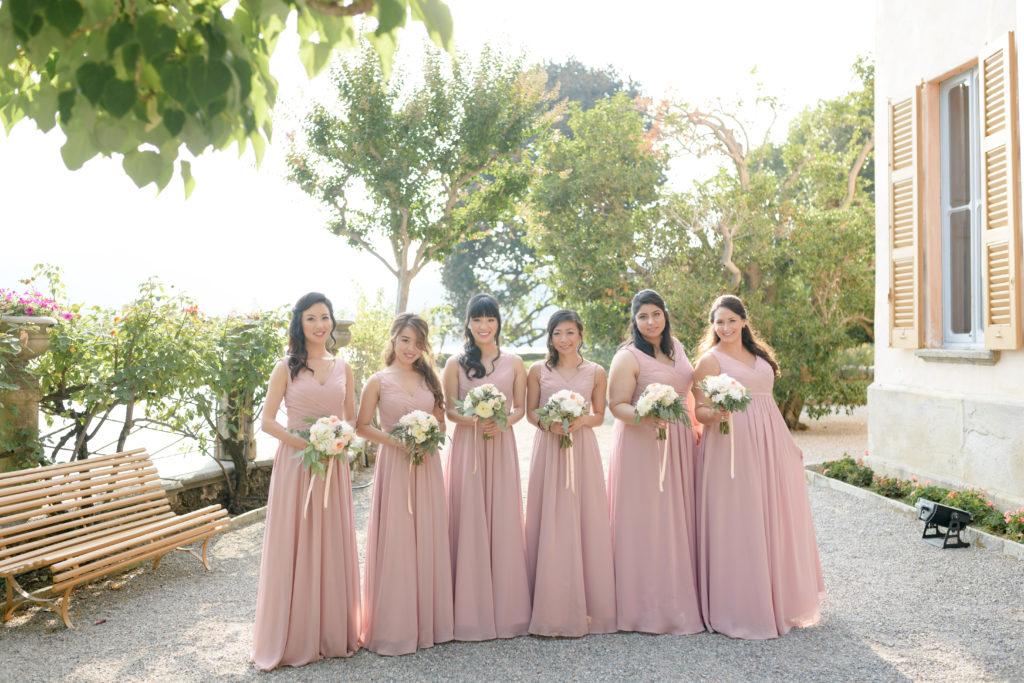 Bridesmaid at Villa Pizzo Stunning wedding at Villa Pizzo - Italian Wedding Designer