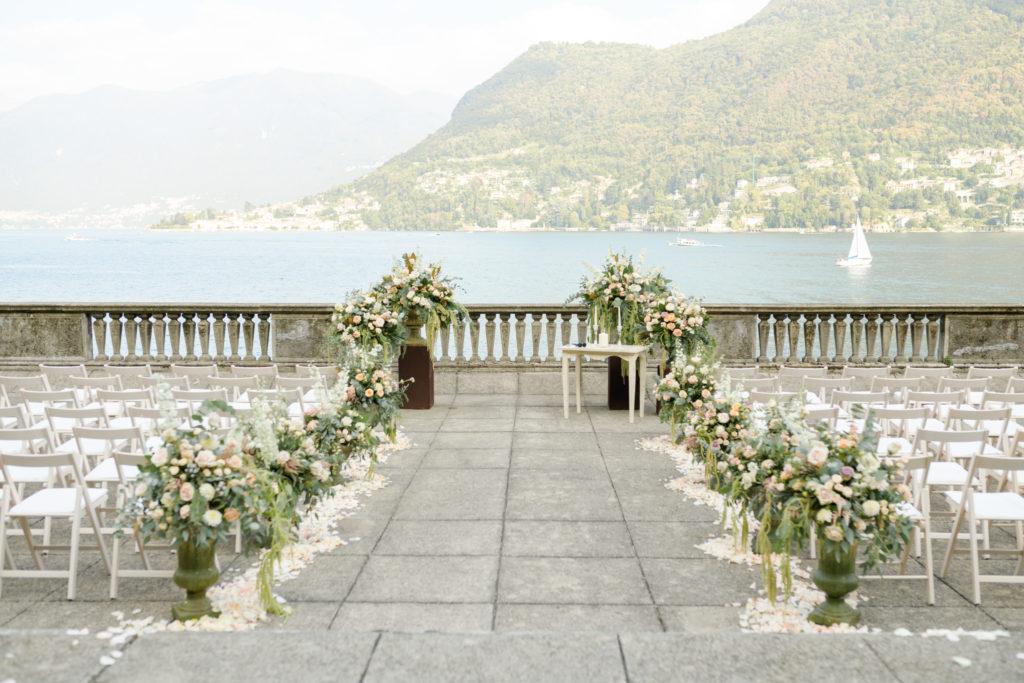 Ceremony at Villa Pizzo Stunning wedding at Villa Pizzo - Italian Wedding Designer