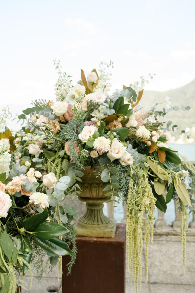 Ceremony Medici Vases Stunning wedding at Villa Pizzo - Italian Wedding Designer