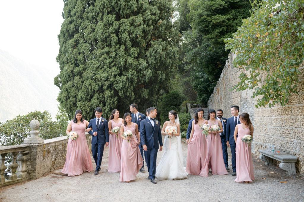 Bridal Party at Villa Pizzo Stunning wedding at Villa Pizzo - Italian Wedding Designer