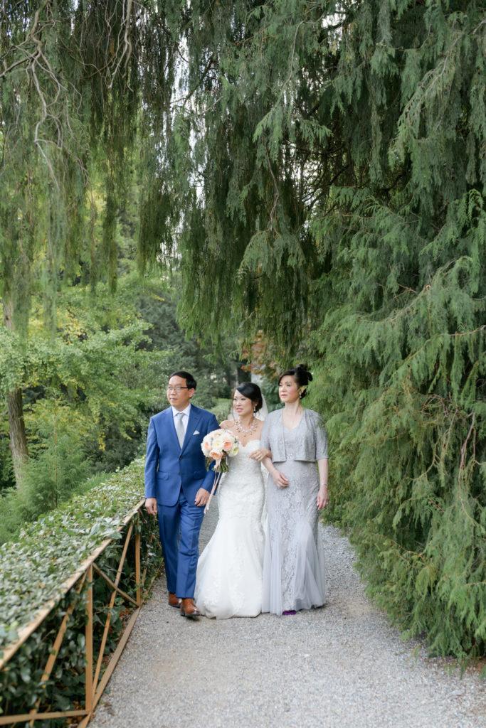Bride entrance ceremony Stunning wedding at Villa Pizzo - Italian Wedding Designer