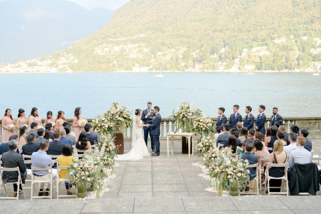 Villa Pizzo Ceremony on the Terrace Stunning wedding at Villa Pizzo - Italian Wedding Designer
