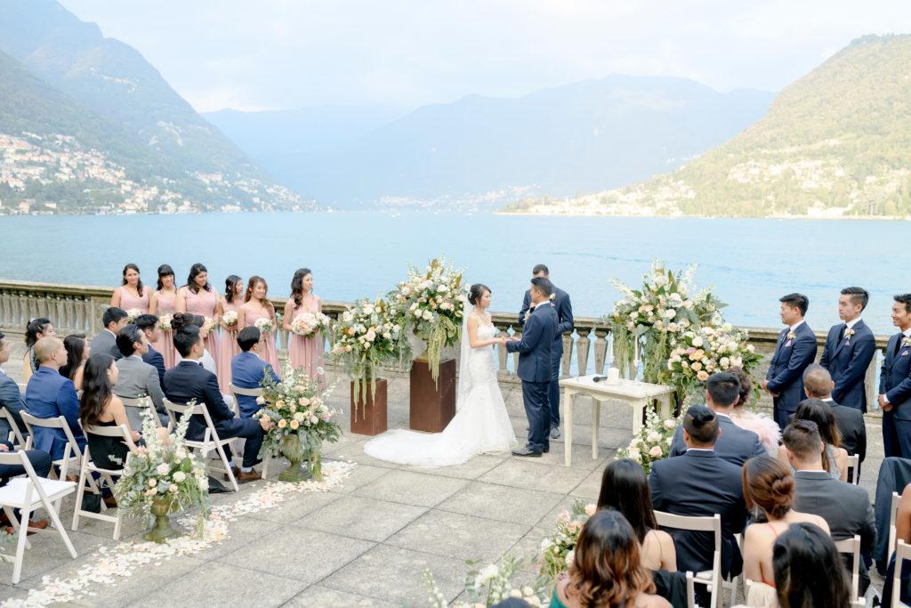 Villa Pizzo waterfront ceremony Stunning wedding at Villa Pizzo - Italian Wedding Designer