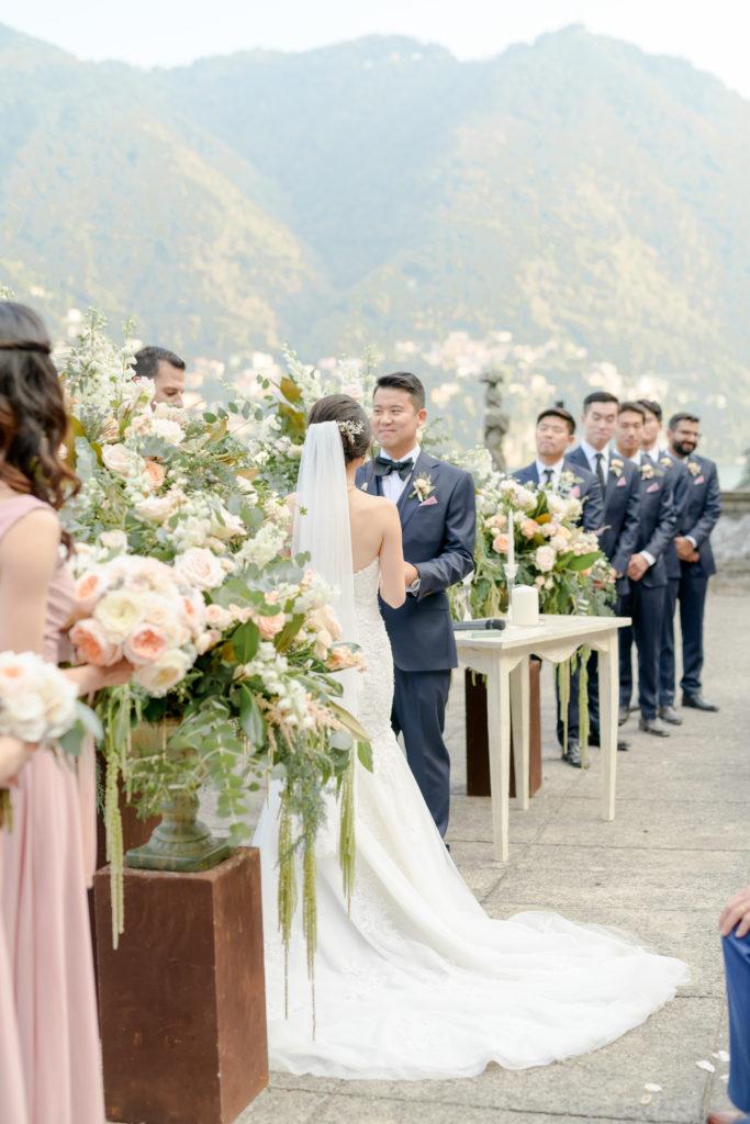 Ceremony on Como Lake Stunning wedding at Villa Pizzo - Italian Wedding Designer