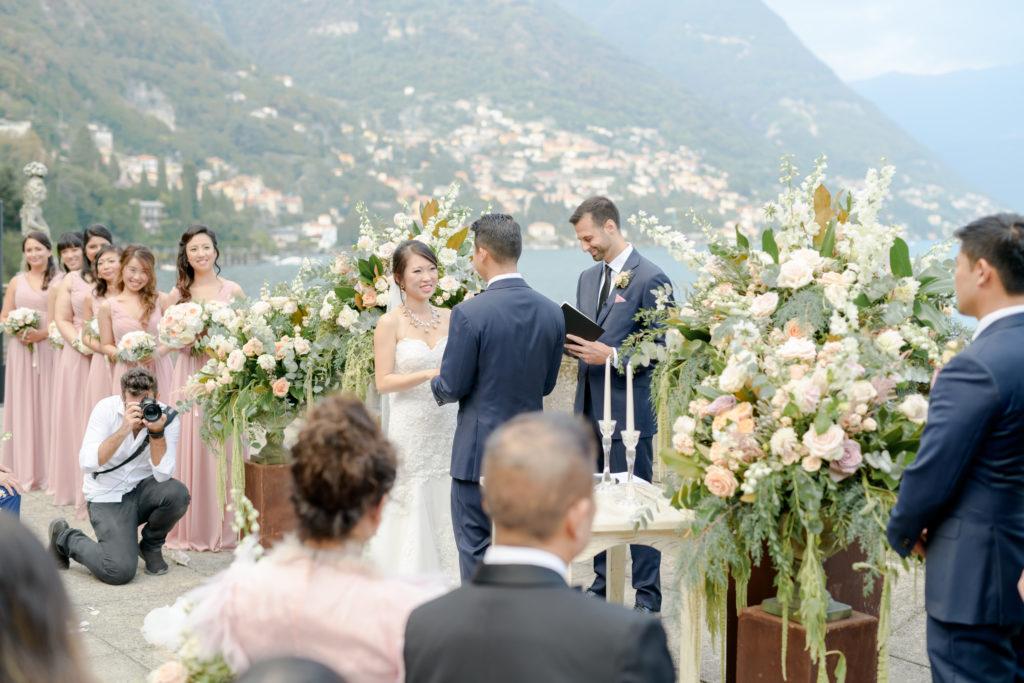 Ceremony Lake Como Stunning wedding at Villa Pizzo - Italian Wedding Designer