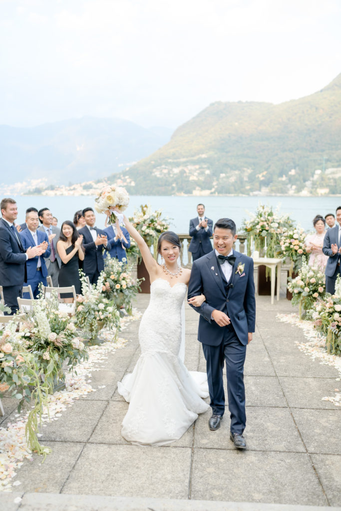Ceremony end Stunning wedding at Villa Pizzo - Italian Wedding Designer