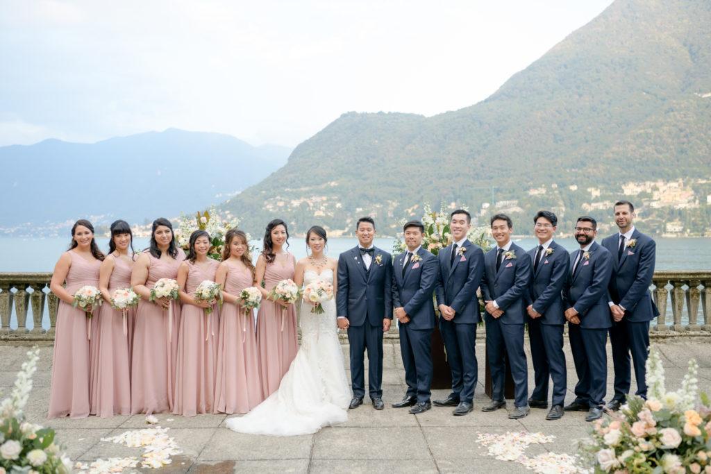 Bridesmaids & Groomsmen Stunning wedding at Villa Pizzo - Italian Wedding Designer