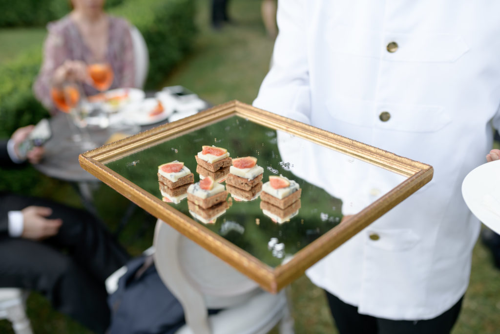 Canapè by AFM catering Stunning wedding at Villa Pizzo - Italian Wedding Designer