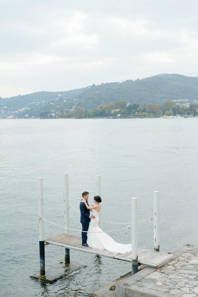 Bride & Groom on Como Lake Stunning wedding at Villa Pizzo - Italian Wedding Designer