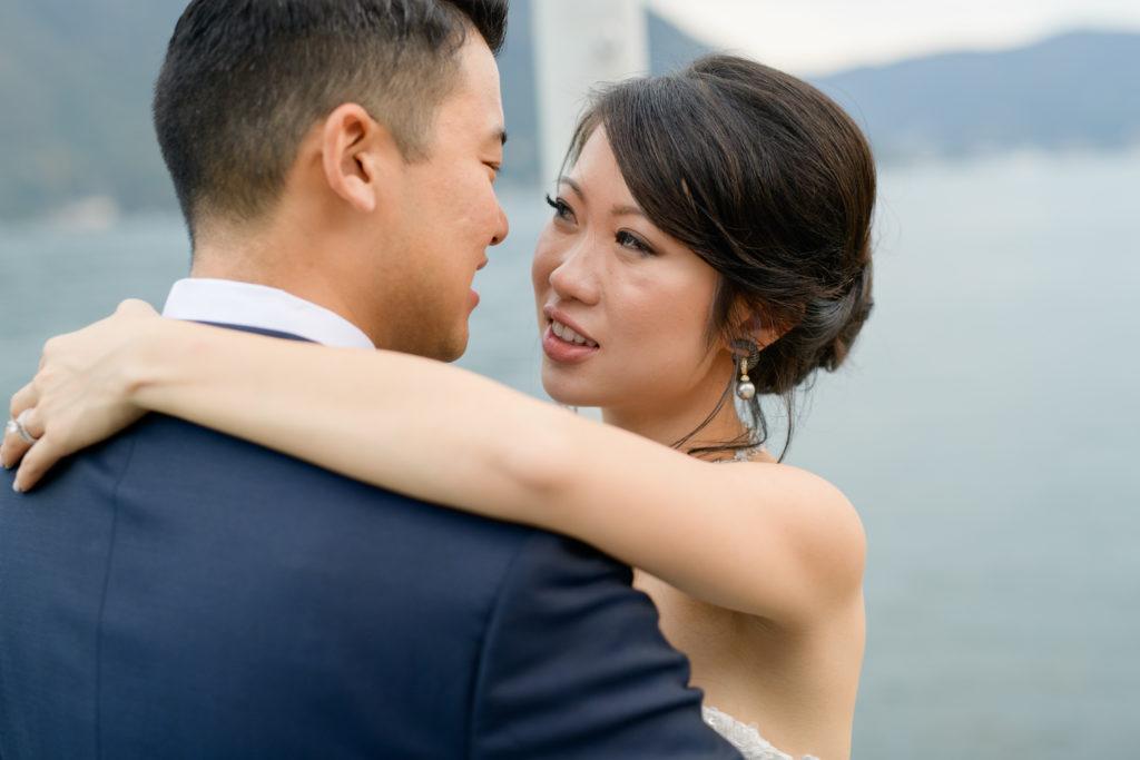 Bride & Groom portrait Stunning wedding at Villa Pizzo - Italian Wedding Designer