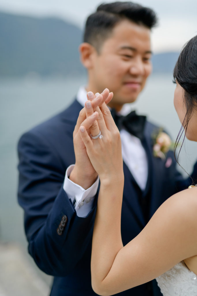 Bride and Groom Stunning wedding at Villa Pizzo - Italian Wedding Designer
