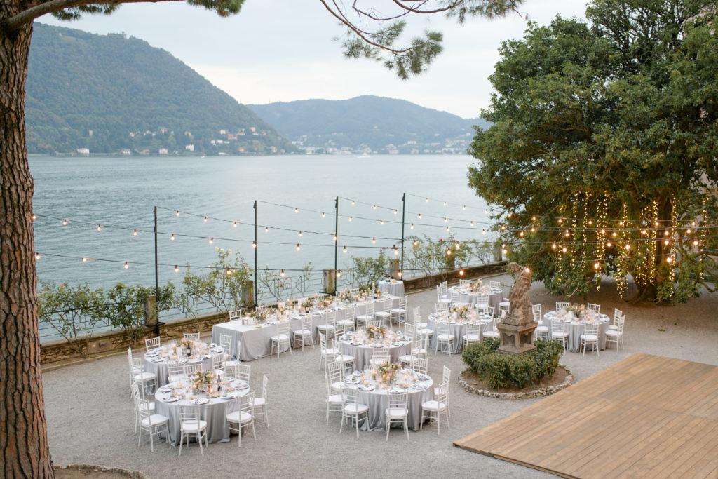 Outdoor dinner at Villa Pizzo Stunning wedding at Villa Pizzo - Italian Wedding Designer