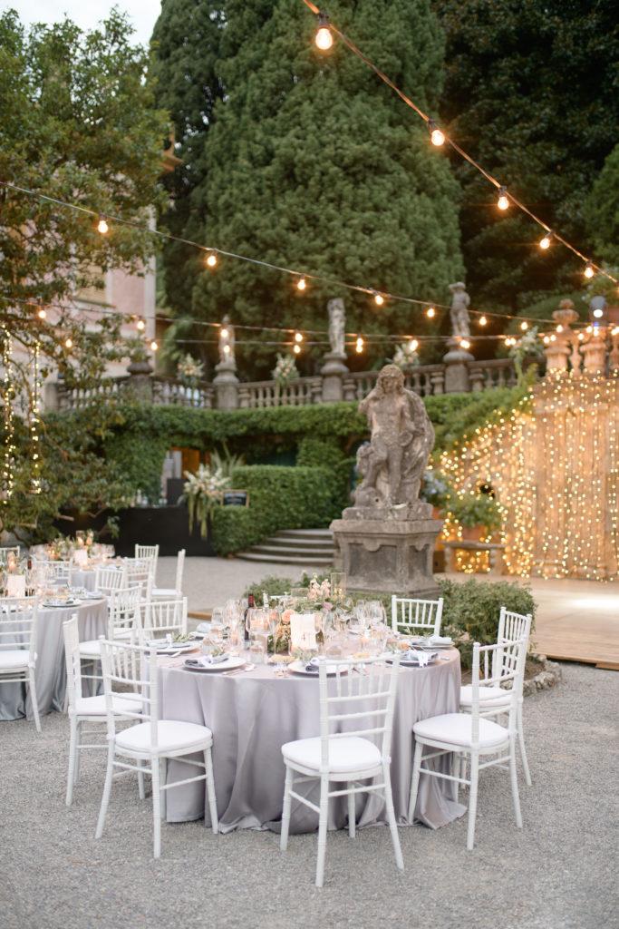 Round table at Villa Pizzo Stunning wedding at Villa Pizzo - Italian Wedding Designer
