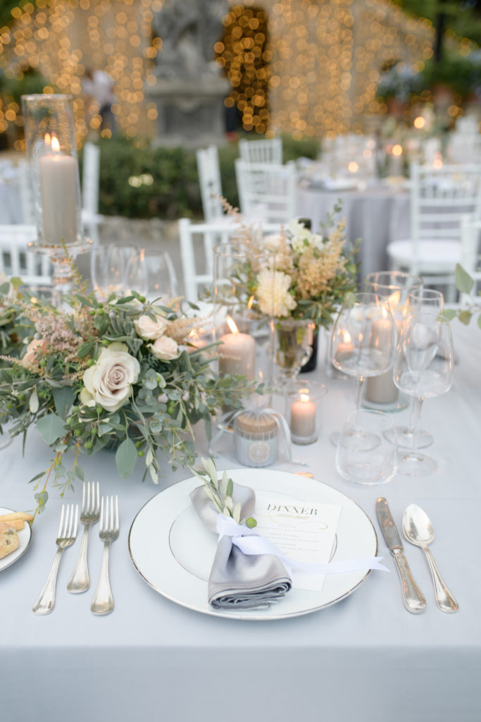 Mise en place at Villa Pizzo Stunning wedding at Villa Pizzo - Italian Wedding Designer