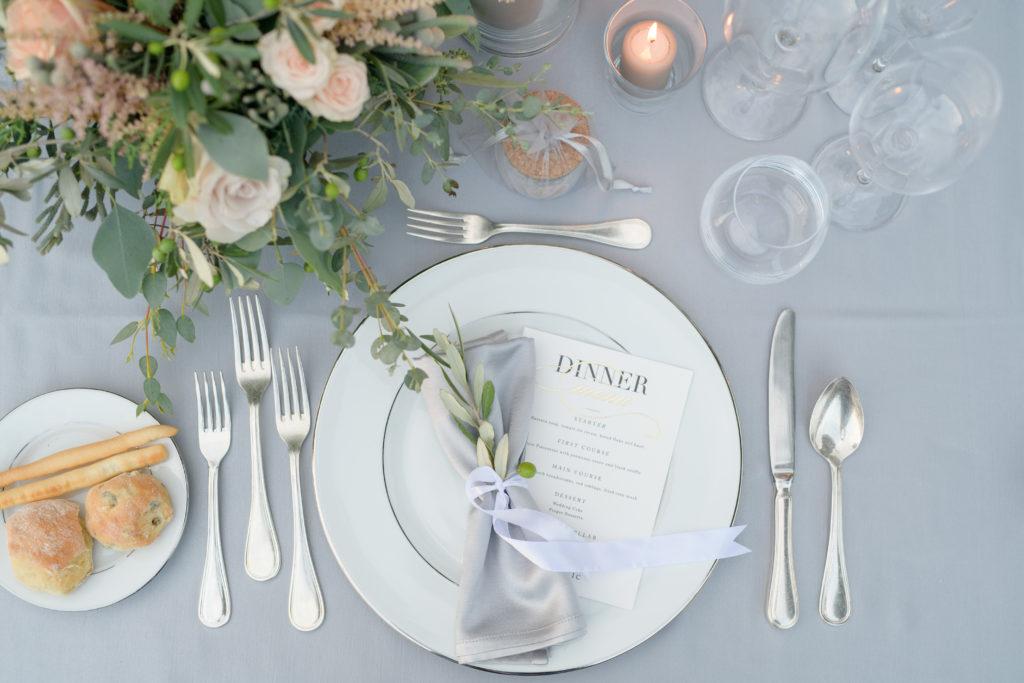 Napkins and Underplate Stunning wedding at Villa Pizzo - Italian Wedding Designer
