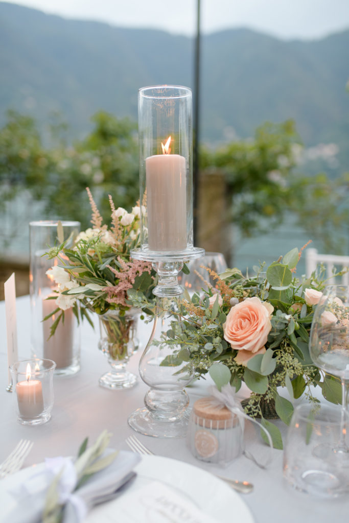 Flower decoration at Villa Pizzo by Flowers Living Stunning wedding at Villa Pizzo - Italian Wedding Designer