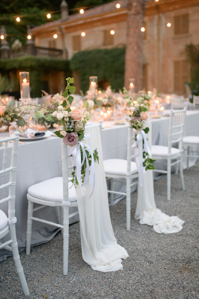 Tables and Chairs at Villa Pizzo Stunning wedding at Villa Pizzo - Italian Wedding Designer