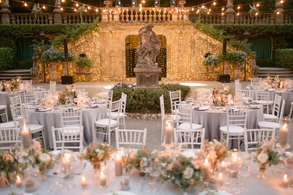 Dinner set up at Villa Pizzo Stunning wedding at Villa Pizzo - Italian Wedding Designer