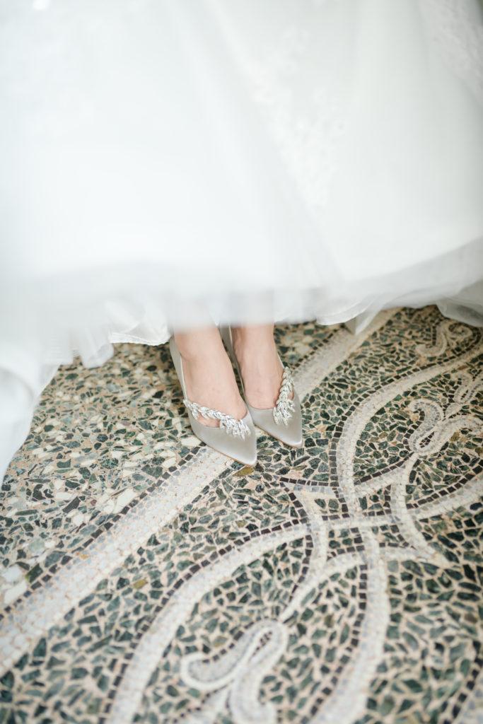 Bridal Shoes Manolo Blahnik - -Stunning Wedding at Villa Pizzo - Italian Wedding Designer