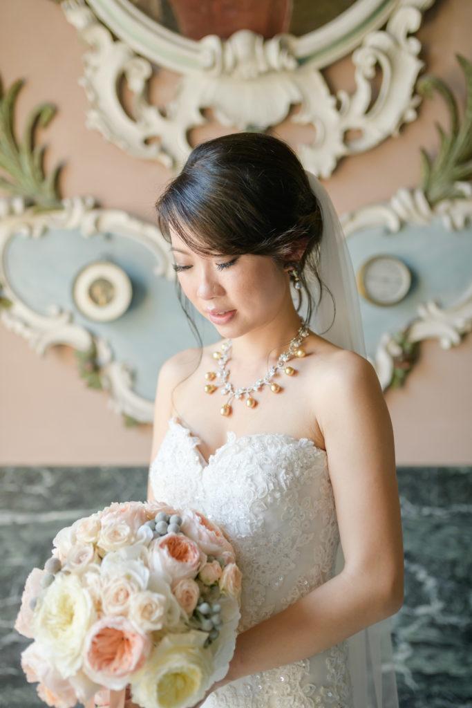 Bride Portrait by Bottega 53 -Stunning Wedding at Villa Pizzo - Italian Wedding Designer