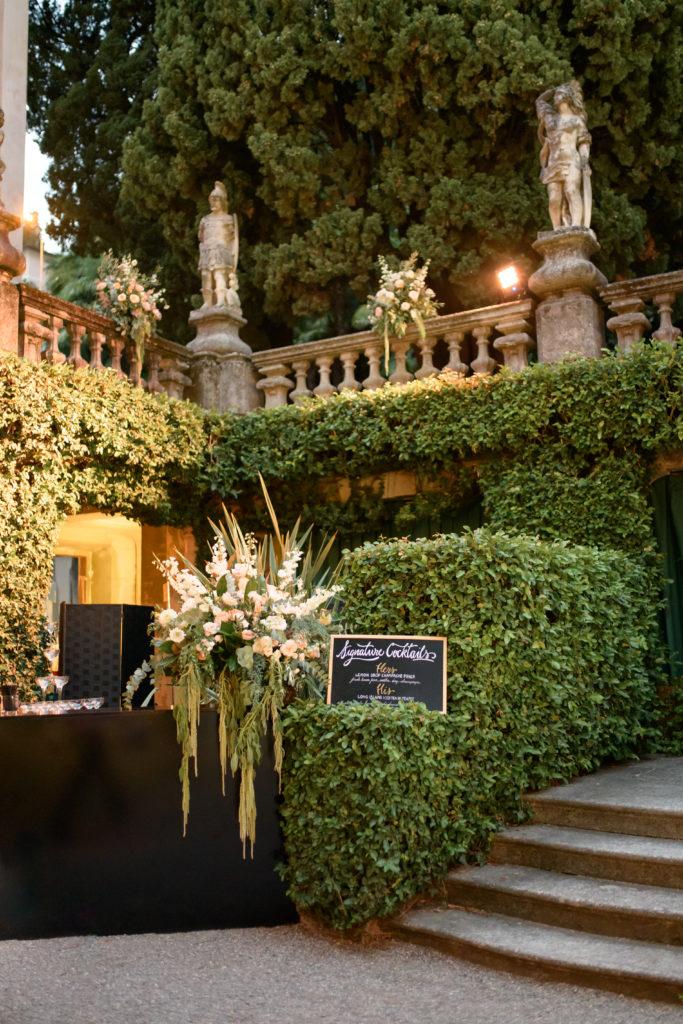 Bar Counter at Villa Pizzo Stunning wedding at Villa Pizzo - Italian Wedding Designer