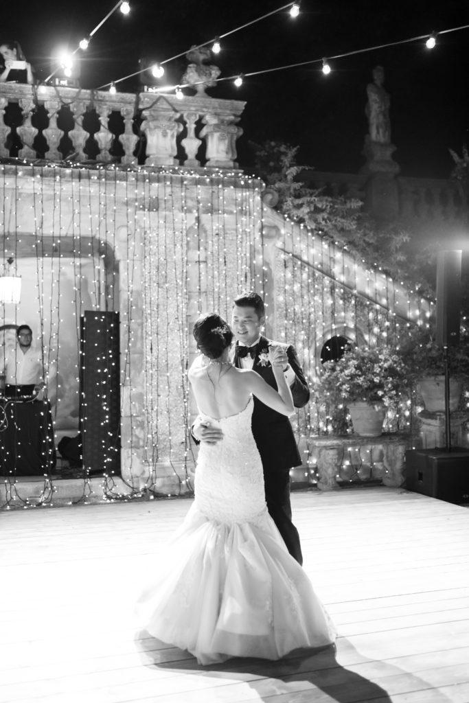 First dance at Villa Pizzo Stunning wedding at Villa Pizzo - Italian Wedding Designer