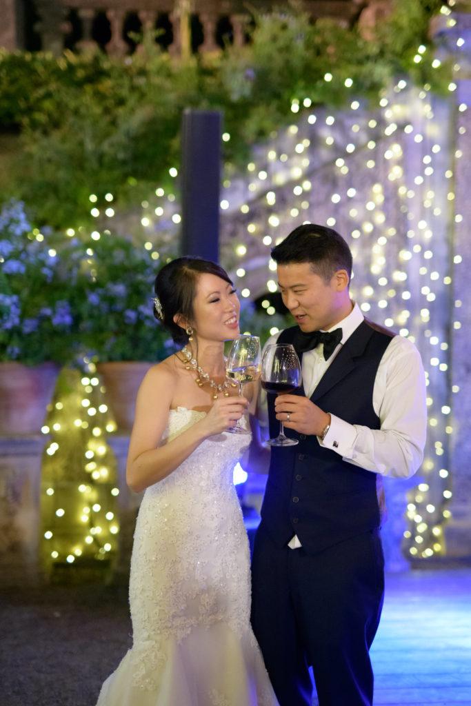 couple speech Stunning wedding at Villa Pizzo - Italian Wedding Designer