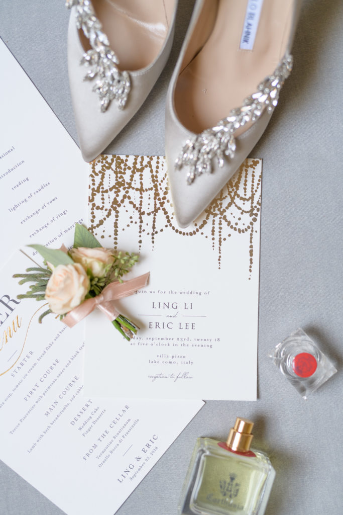 Manolo Blahnik Wedding Shoes -Stunning Wedding at Villa Pizzo - Italian Wedding Designer