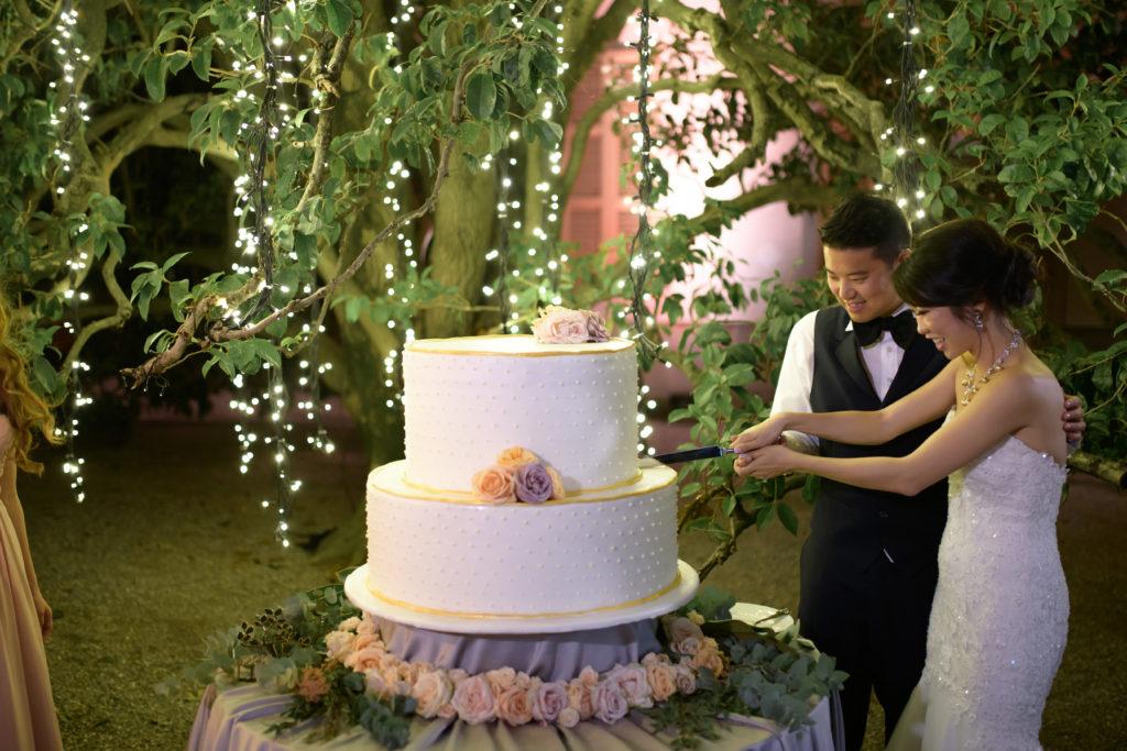 Wedding cake by AFM caterer Stunning wedding at Villa Pizzo - Italian Wedding Designer