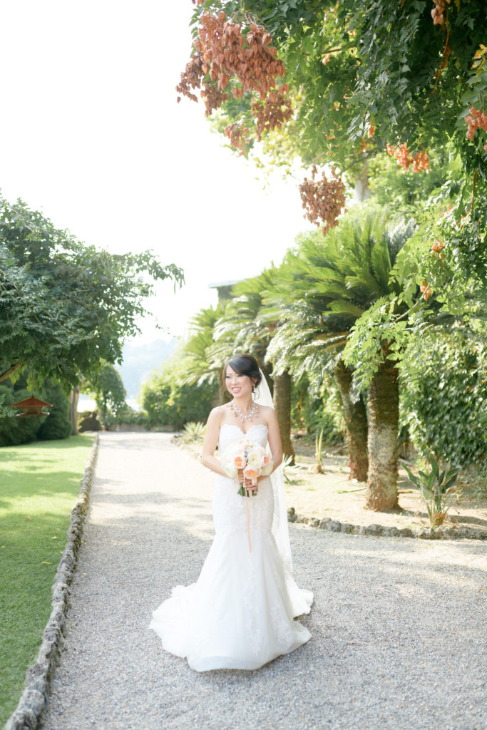 Bride in Villa PIzzo -Stunning Wedding at Villa Pizzo - Italian Wedding Designer