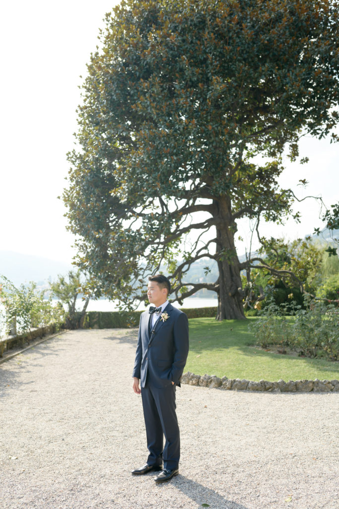 Groom at Villa Pizzo -Stunning Wedding at Villa Pizzo - Italian Wedding Designer