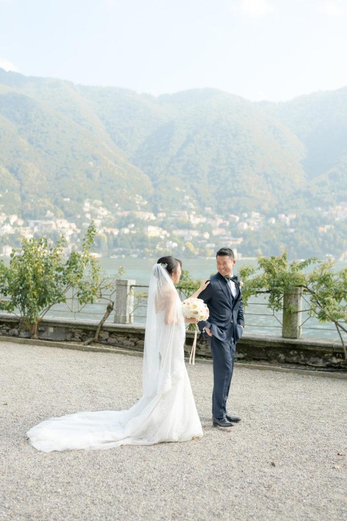 Villa Pizzo First Look -Stunning Wedding at Villa Pizzo - Italian Wedding Designer