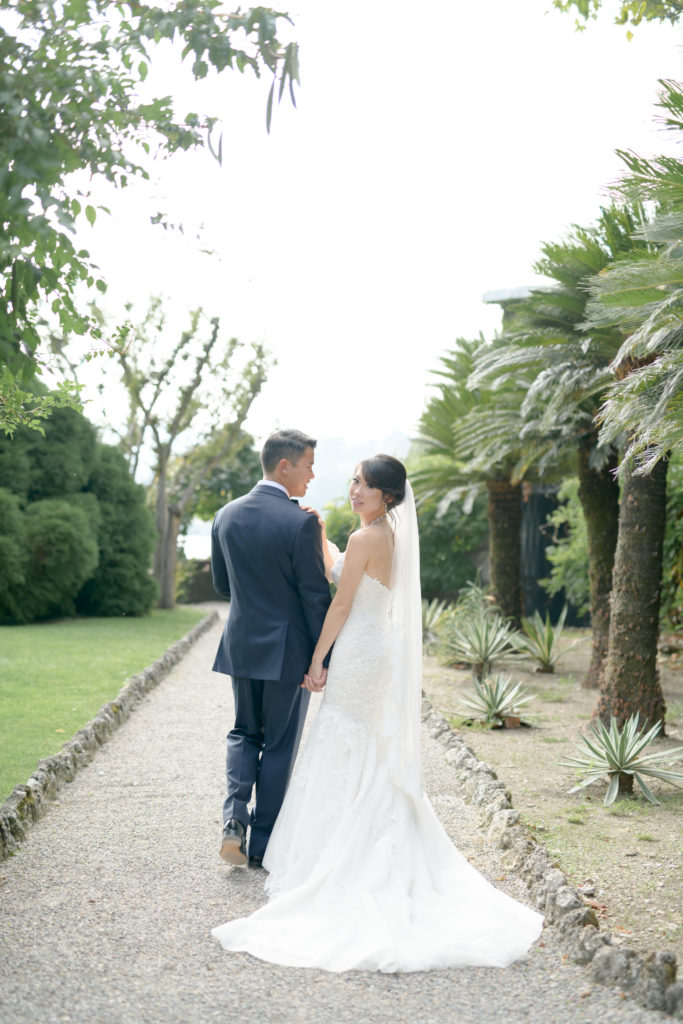 Bride and Groom portrait Stunning wedding at Villa Pizzo - Italian Wedding Designer