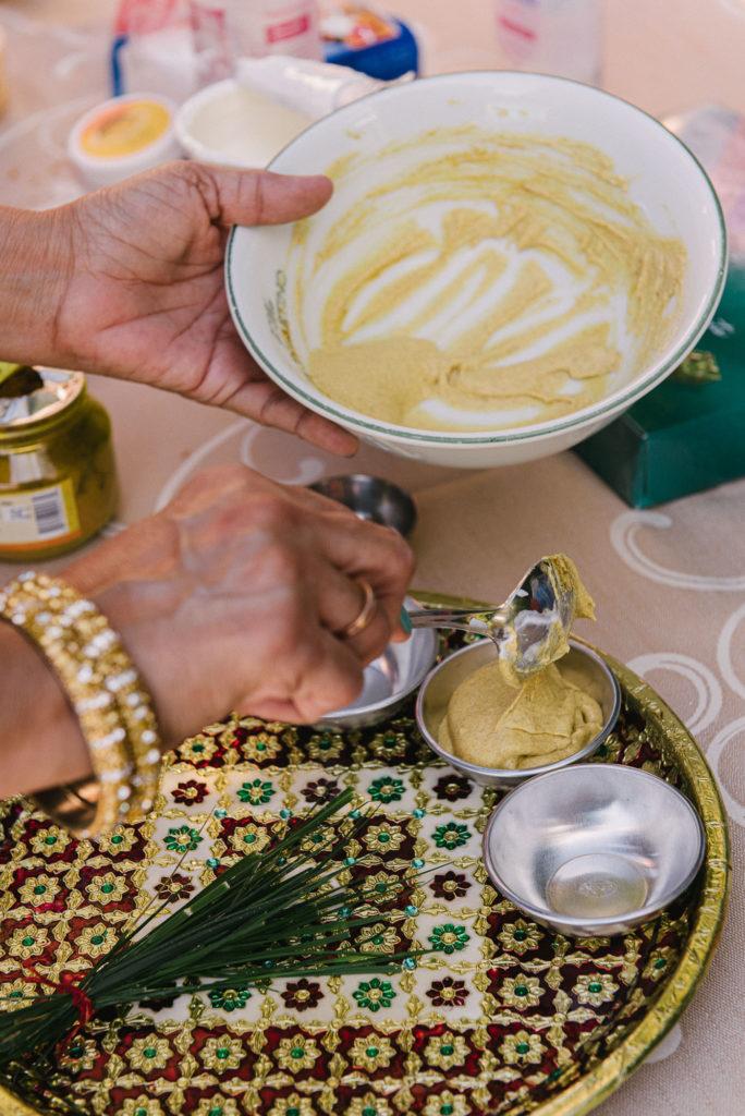 Haldi Ceremony preparation - Indian Wedding in Tuscany - Italian Wedding Designer