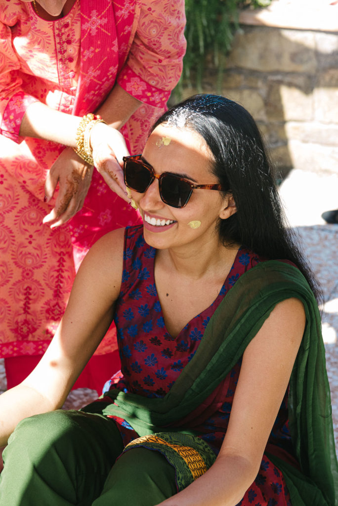 Bride during Haldi Ceremony - Indian Wedding in Tuscany - Italian Wedding Designer
