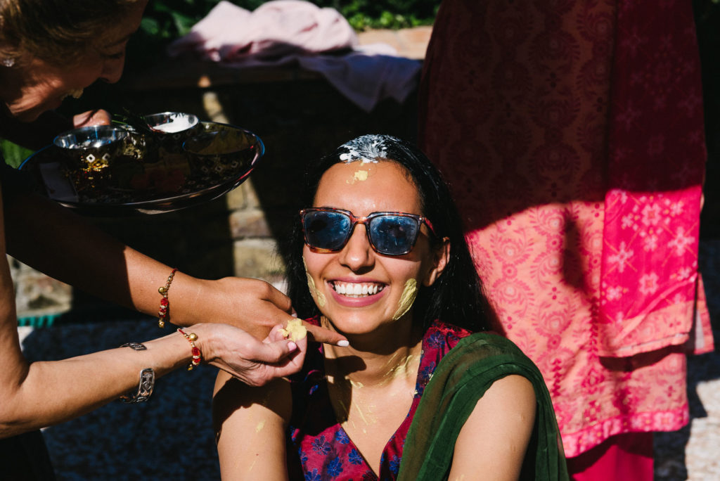 Haldi Ceremony the day before the - Indian Wedding in Tuscany - Italian Wedding Designer