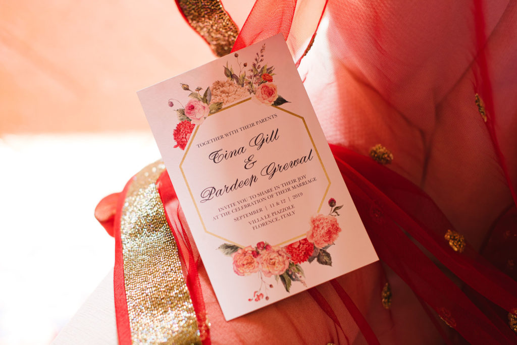 Ceremony Program - Indian Wedding in Tuscany - Italian Wedding Designer