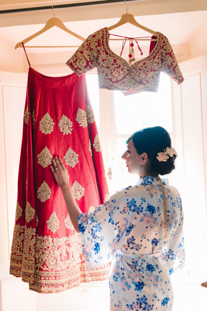 Indian Bride Portrait - Indian Wedding in Tuscany - Italian Wedding Designer