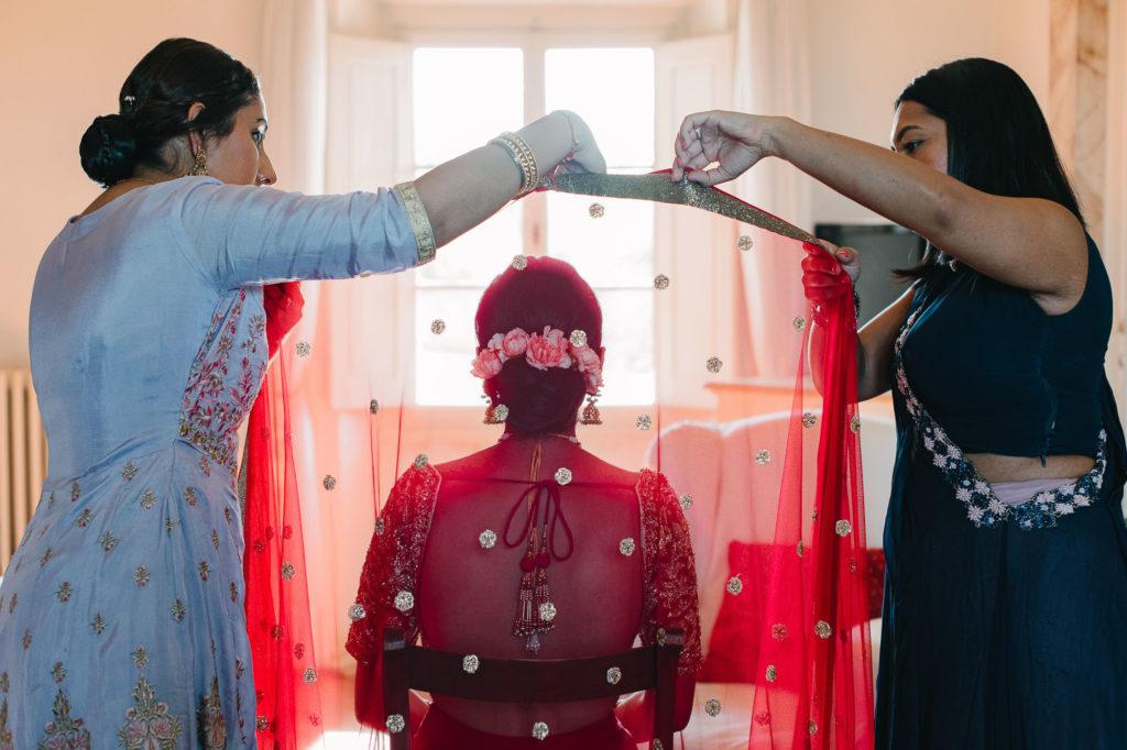 Indian Veil - Indian Wedding in Tuscany - Italian Wedding Designer