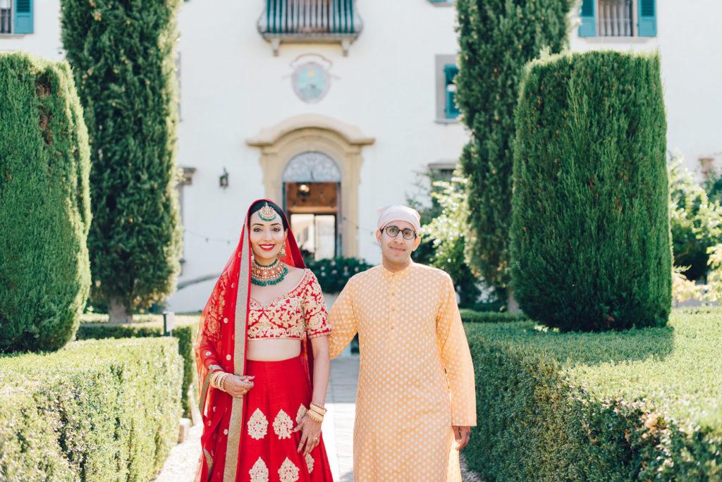 Indian Bride at Villa Le Piazzole - Indian Wedding in Tuscany - Italian Wedding Designer