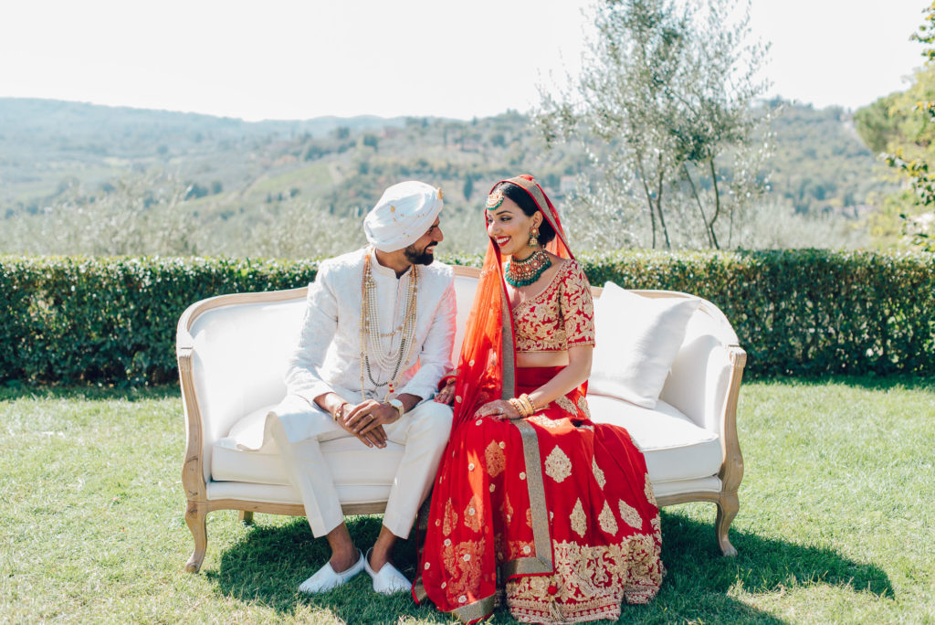 Sikh Couple in Florence Sikh ceremony Priest in Italy by Italian Wedding Designer