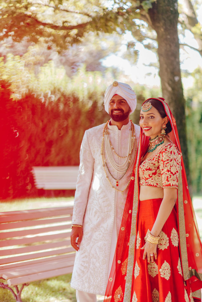 Sikh Couple at Villa Le Piazzole Sikh ceremony Priest in Italy by Italian Wedding Designer