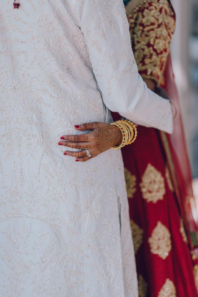 Sikh Bride and Groom Dresses Sikh ceremony Priest in Italy by Italian Wedding Designer