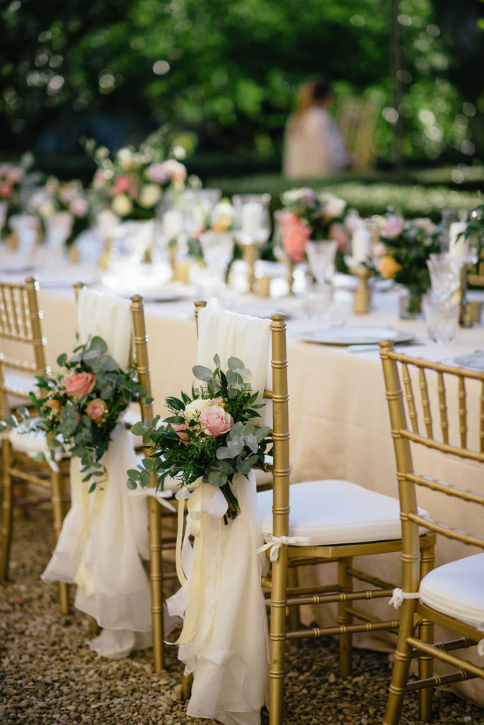 Bride & Groom Chairs decoration Sikh ceremony Priest in Italy by Italian Wedding Designer