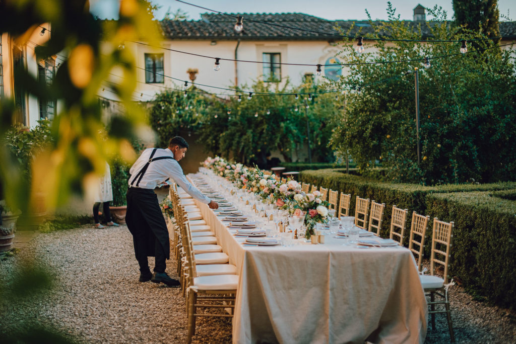 Imperial table at Villa Le Piazzole Sikh ceremony Priest in Italy by Italian Wedding Designer